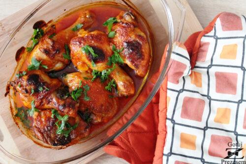 kurczak pieczony w majonezie i ketchupie