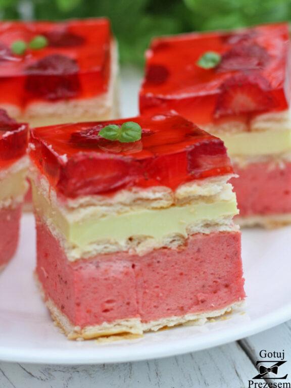 truskawkowiec ciasto bez pieczenia
